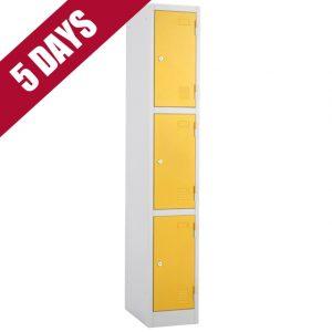 atlas express fast quick delivery 3 door tier locker fasttek