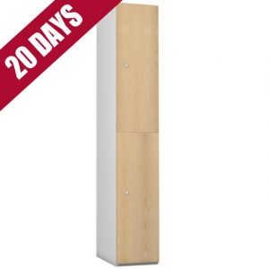 e Timberbox Timber Door Locker Ash