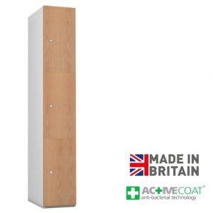 Probe Timberbox 3 Door Locker Oak