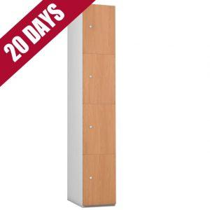 Probe Timberbox Timber Door Locker Beech