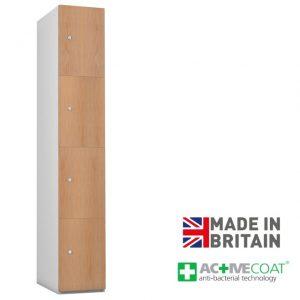 Probe Timberbox 4 Door Locker Oak