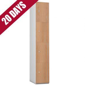 Probe Timberbox Timber Door Locker Oak