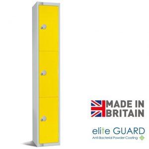 elite full height locker 3 door tier