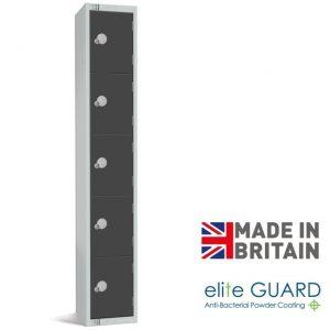 elite full height locker 5 door tier