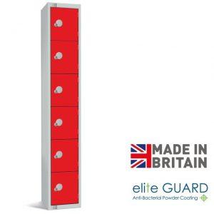 elite full height locker 6 door tier
