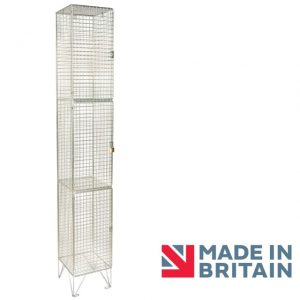 Wire Mesh Locker 3 door amp crown Robinsons