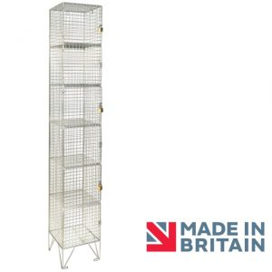 Wire Mesh Locker 6 door amp crown Robinsons
