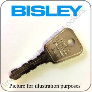 Bisley locker key 64 65 series replacement key