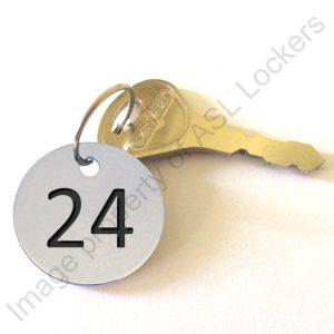 stainless steel engraved number disc tag key fob