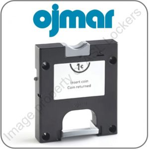 ojmar model 74 dry area coin operated £1 lock for lockers