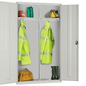 Steel Extra Wide Wardrobe Cupboard