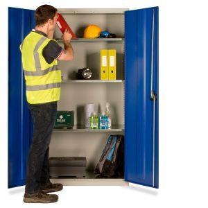 steel ppe shelved cupboard