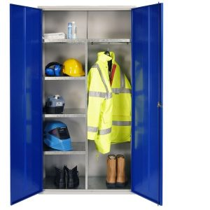 PPE clothing and equipment cupboards
