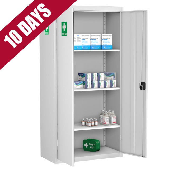 Medical First Aid Cabinet Storage Cupboard