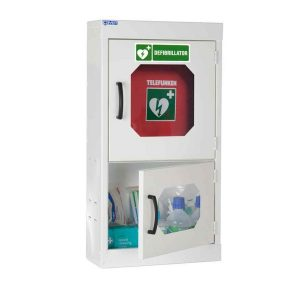 wall mounted defibrillator cabinet