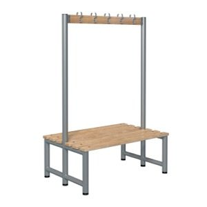 Double sided cloakroom benching