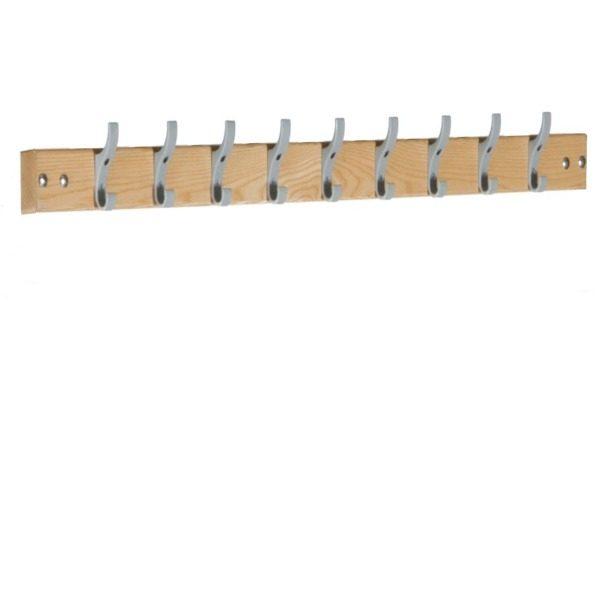 standard cloakroom wall hung hook board