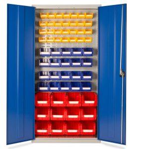 60 plastic bin small parts storage cupbaord