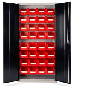 32 bin small parts storage cupboard