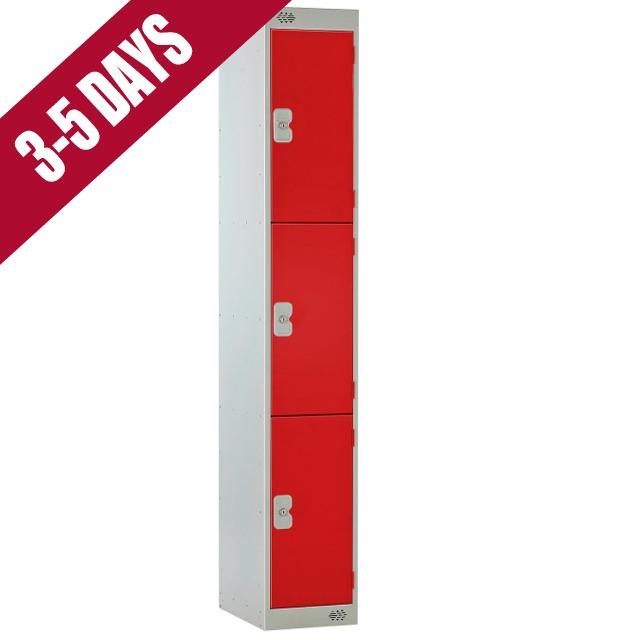 Link Quick Delivery 3 Door Locker Red Door