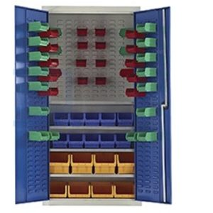 qmp 59 bin small parts storage cupboard