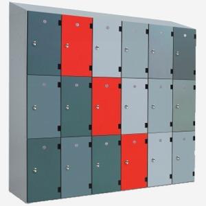 Laminate door locker, overlayed laminate door