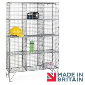 Wire Mesh Locker 12 compartment amp crown Robinsons