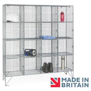 Wire Mesh Locker 16 compartment amp crown Robinsons