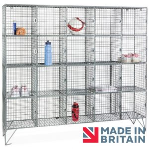Wire Mesh Locker 20 compartment amp crown Robinsons