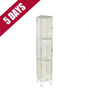Wire Mesh 3 Door Low Level Locker
