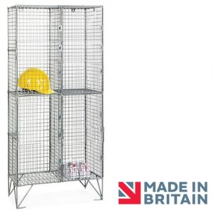 Wire Mesh Locker 4 compartment amp crown Robinsons
