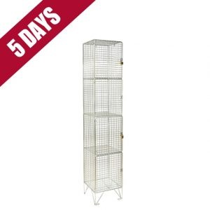 Wire Mesh 4 Door Low Level Locker