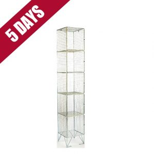 Wire Mesh 5 Door Low Level Locker