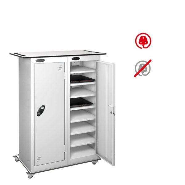 laptop storage locker, charging locker, 15 door laptop locker, probe laptop