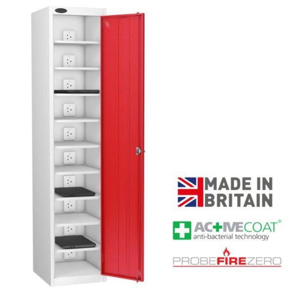 Probe 10 Compartment Single Door Laptop Tablet Ipad Storage Charging Locker Cabinet