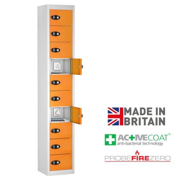 Probe 10 Door Tablet Ipad Phone Device Storage Charging Locker Cabinet