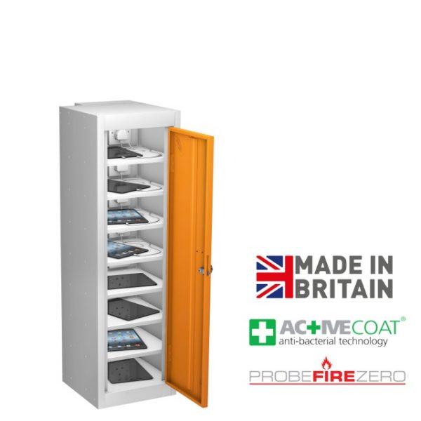Probe 8 Compartment Single Door Tablet Ipad Phone Device Storage Charging Locker Cabinet
