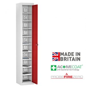 Probe 10 Compartment Single Door Tablet Ipad Phone Device Storage Charging Locker Cabinet