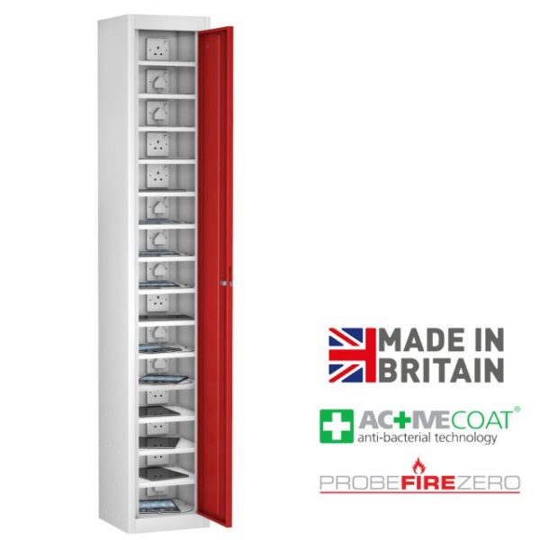 Probe 15 Compartment Single Door Tablet Ipad Phone Device Storage Charging Locker Cabinet