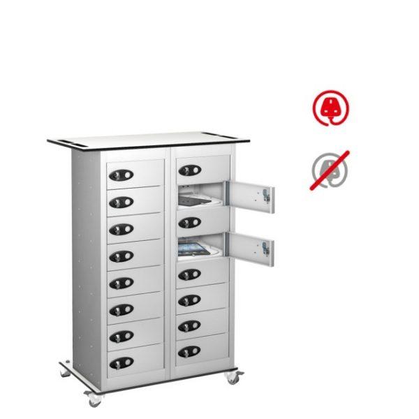 media tablet ipad storage charging locker