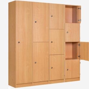 wood lockers, timber lockers