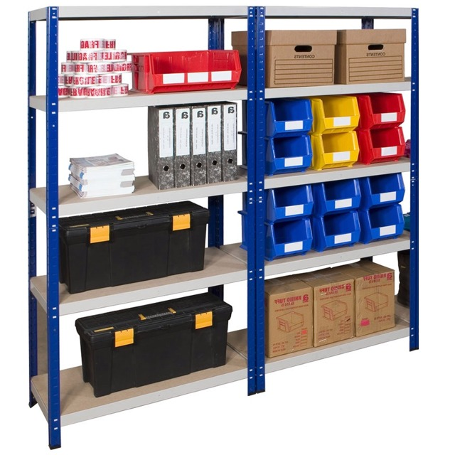 Low cost economy budget click together office shelving