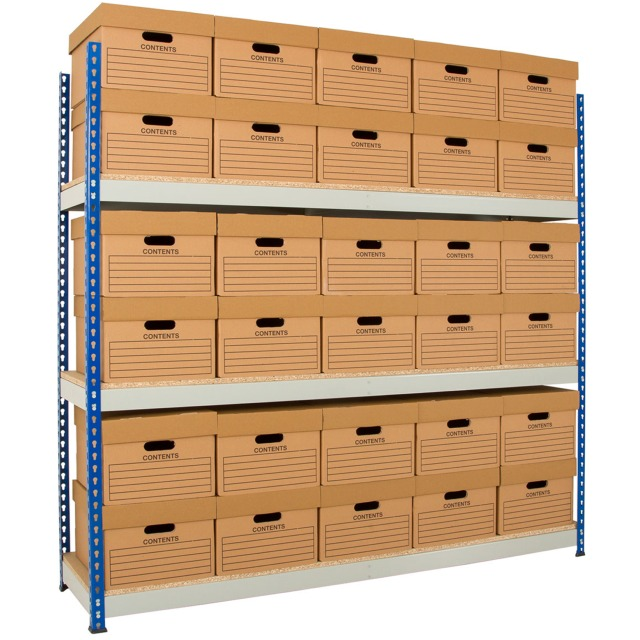 rivet racking long wide span store room warehouse shelving