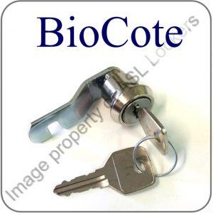 Biocote Lockers replacement key cam lock