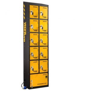 defender power bank 10 door tool battery charging site storage locker