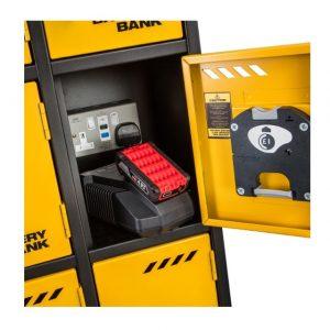 defender power bank 10 door tool battery charging site storage locker