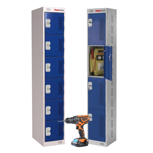 tool battery site charging locker