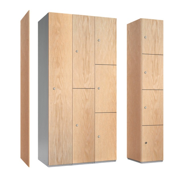 timber wood mfc door lockers