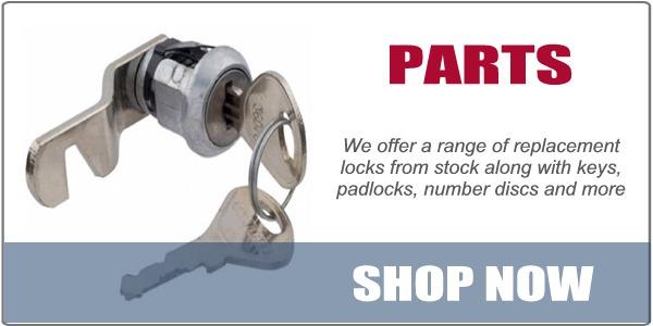 Locker Parts, locks, keys, padlocks, key fobs, number plates and discs, wrist straps, coin locks, combination locks, master keys