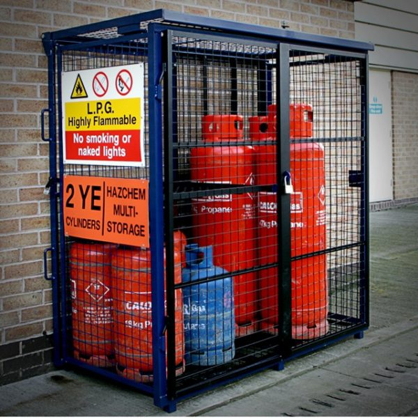 Fold Away Gas Bottle Site Storage Mesh Cage